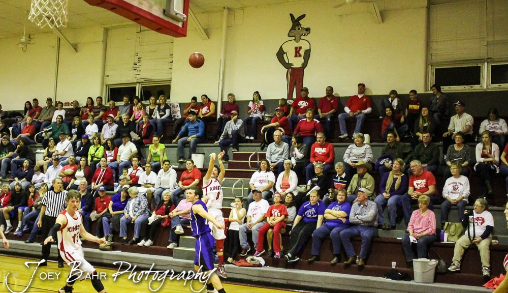 during the Spearville Lancers at Kinsley Coyotes Boys Basketball Game with Spearville winning 64 to 40 at Kinsley High School in Kinsley, Kansas on February 6, 2015.  (Photo: Joey Bahr, www.joeybahr.com)