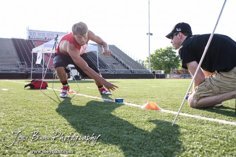 Advance Therapy Athletic Performance hosted The Unlock Your Potential 2016 Combine at Memorial Field on the campus of Great Bend High School in Great Bend, Kansas on June 13, 2016. (Photo: Joey Bahr, www.joeybahr.com)