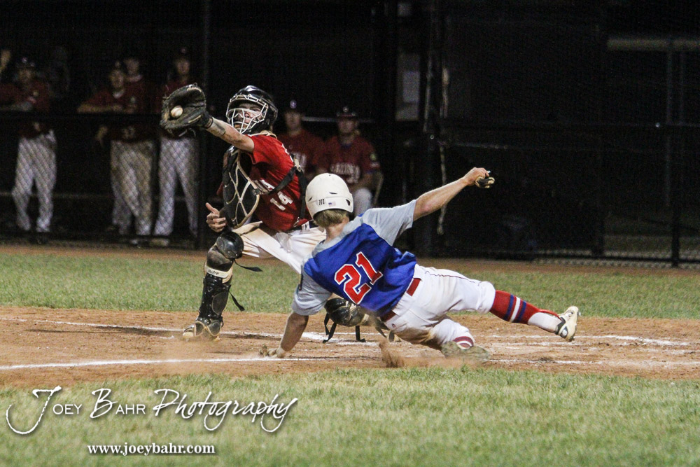 McPherson defeated the Salina Falcons 5 to 4 to advance to the American Legion Class AAA Baseball State Tournament Consolation finals game at the Great Bend Sports Complex in Great Bend, Kansas on July 29, 2016. (Photo: Joey Bahr, www.joeybahr.com)